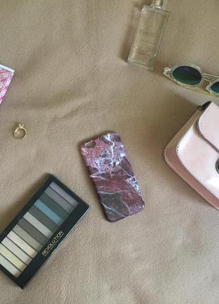Бордовый мраморный чехол для iphone 6/6s