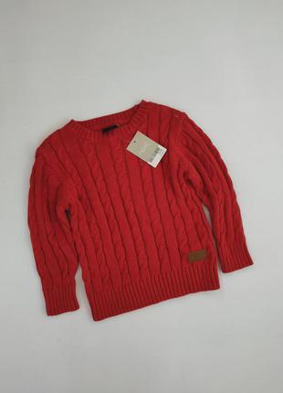 Тёплый вязаный джемпер кофта,  свитер next 98 см на 2-3 года