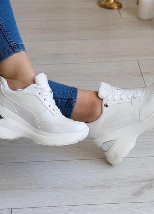 Сникерсы женские 3208 кроссовки на танкетке снікерси жіночі кросівки