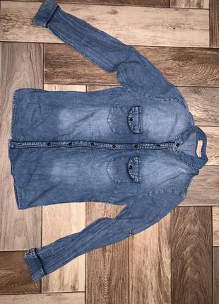 Рубашка под джинс