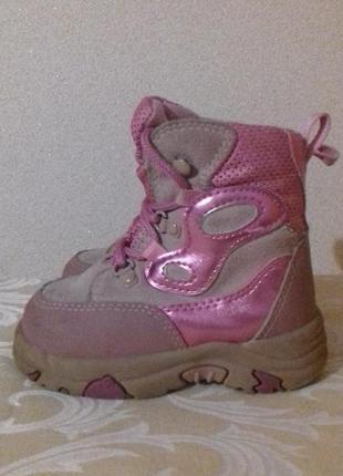 Теплые детские кроссовки del-tex