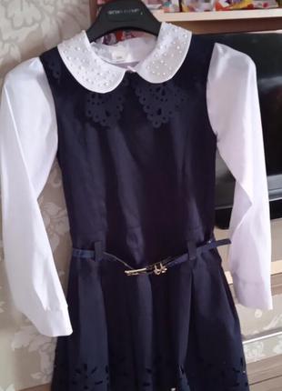 Шкільна форма(сарафан і блуза)