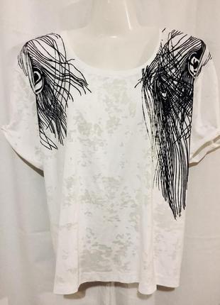 Актуальная футболка перья павлина topshop