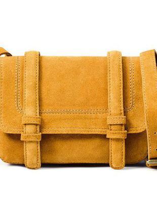 Замшевая сумка через плечо zara