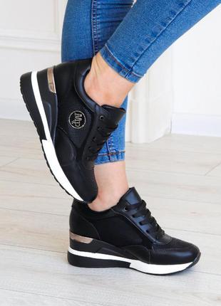 Сникерсы женские 3225 кроссовки на танкетке снікерси жіночі кросівки