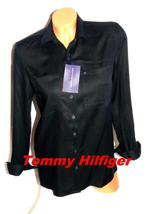 Tommy hilfiger шикарная брендовая рубашка - l - m