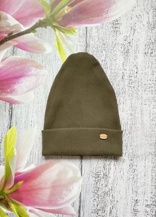 Крутая трикотажная шапка двойная размер 48-52