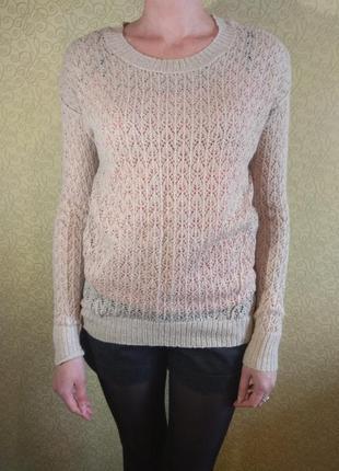 Трендовый стильный удлиненный свитер джемпер topshop