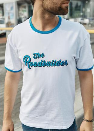 Футболка базовая бедая , футболка мужская