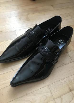 Кожаные туфли 43, 5 размера