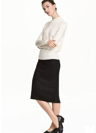 Классическая юбка h&m модной длины