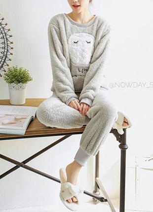 В наличии домашний костюм пижама махровая зимняя теплая