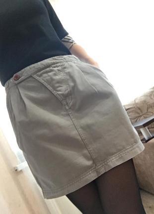 Оригинальная юбка джинсовая