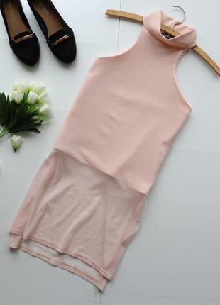Нежная блузка водолазка с разрезами по бокам