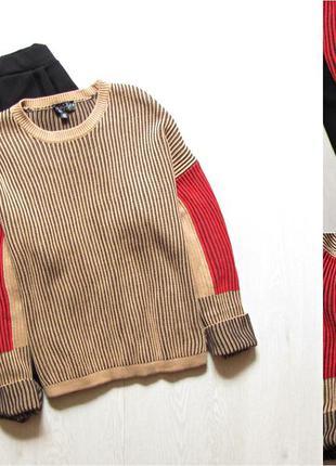 Плотный оверсайз свитер с разрезами topshop