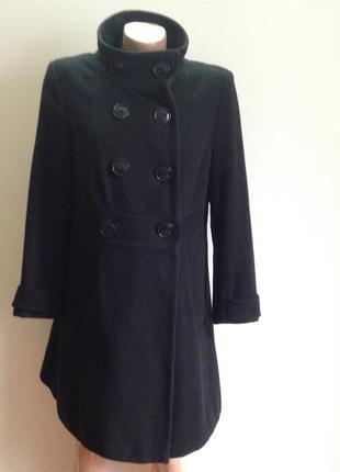 Пальто чёрное классика
