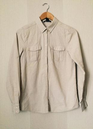 Натуральная рубашка mango