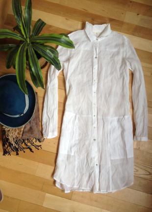 Крутая удлиненная рубашка esprit. как новая!