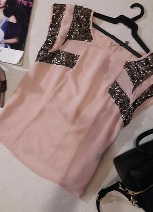 Красивая пудровая блуза размер. xl