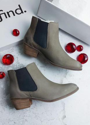Find. оригинал кожаные ботинки челси
