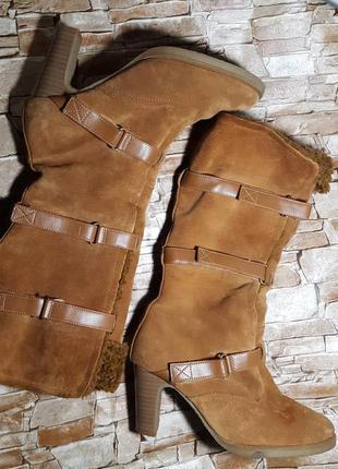 Сапоги кожаные на меху 25.5-25.8см