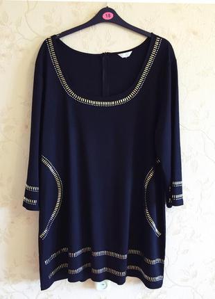 Батал! теплое плотное платье туника прямого силуэта от yours, большой размер 54-56