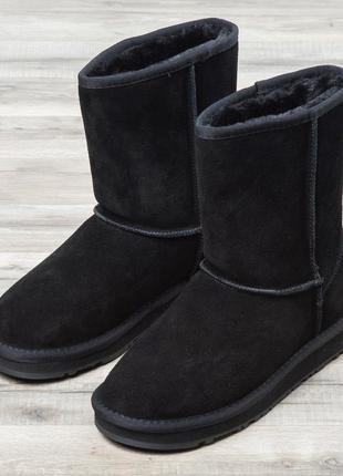 Женские ботинки ugg натуральная замша (угги) 36, 38, 39, 40, 41 размеры черные