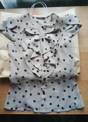 Блузка в горошек kira plastinina