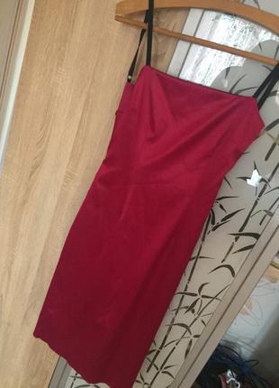 Платье трансформер с открытой спиной(розовое/черное