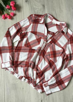 Фирменная тёплая рубашка river island, размер 8/36