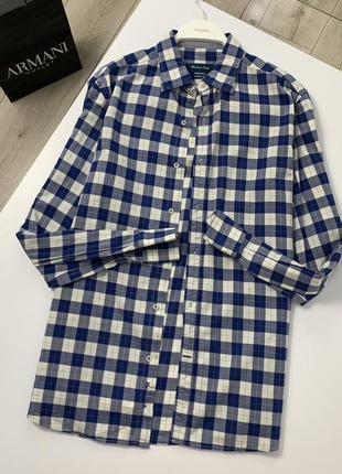 Рубашка в клетку massimo dutti оригинал хлопок