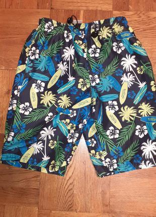 Яркие пляжные шорты плавки alive