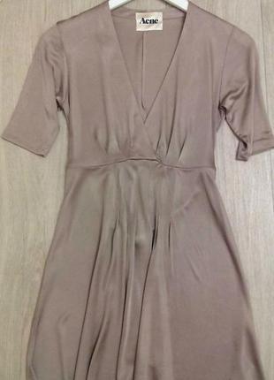 Платье пудровое s, xs оригинал