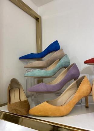 Туфли лодочки из натуральной замши и кожи 🤍