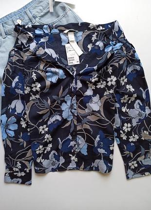 Рубашка блуза блузка сорочка с открытыми плечами от h&m