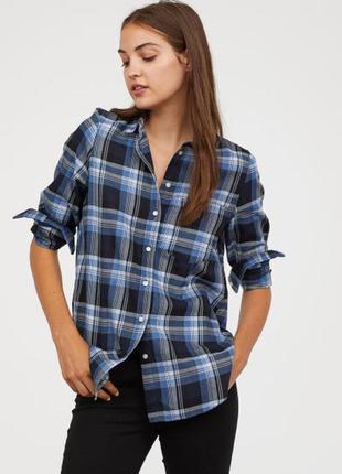 Рубашка в клетку сорочка в клітинку h&m
