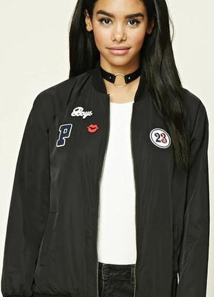 Чудесная куртка, бомбер, деми ,forever 21, р. s, m, l