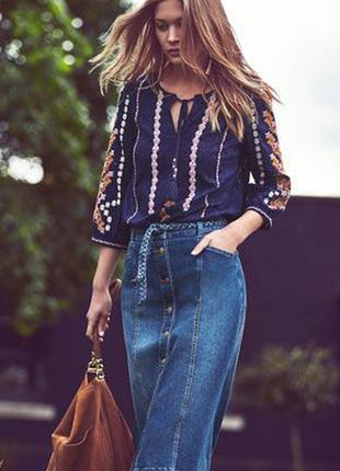 Блуза с вышивкой, вышиванка от monsoon