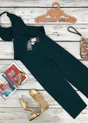 Роскошный креповый комбинезон zara с укороченными брюками   ov4864
