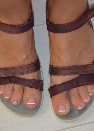 Кожаные сандалии ecco р. 38 по стельке 25 см