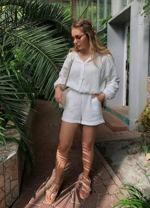 Скидка! муслиновый летний пляжный костюм