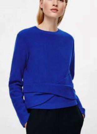 Шерстяной тёплый свитер пуловер cos 38 размер