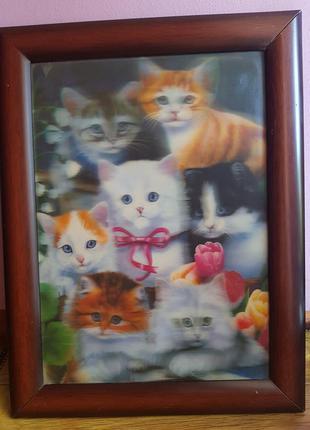 Картина на стену котики
