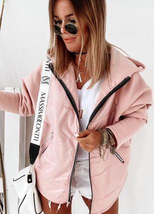 Топ куртка 3 цвета, куртка oversize, объемная женская куртка, демисезонная куртка(арт 12011)