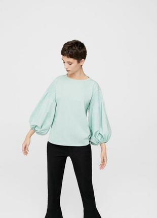 ❤️ блуза с буфами пышными широкими рукавами как zara