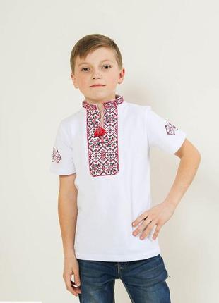 Футболка вышиванка для мальчика из лакосты