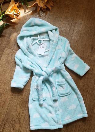 Marks spenser махровый плюшевый халат для девочки