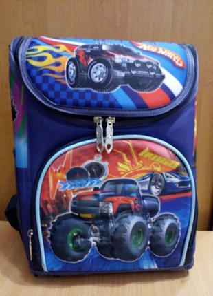 Рюкзак школьный каркасный 1 отделение, 3 кармана, спинка ортопедическая, 3d принт