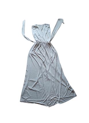 Платье в пол цвет слоновой кости ткань масло