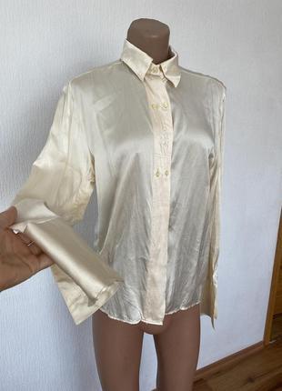 100% шовк /шелк !! шикарна блуза !!